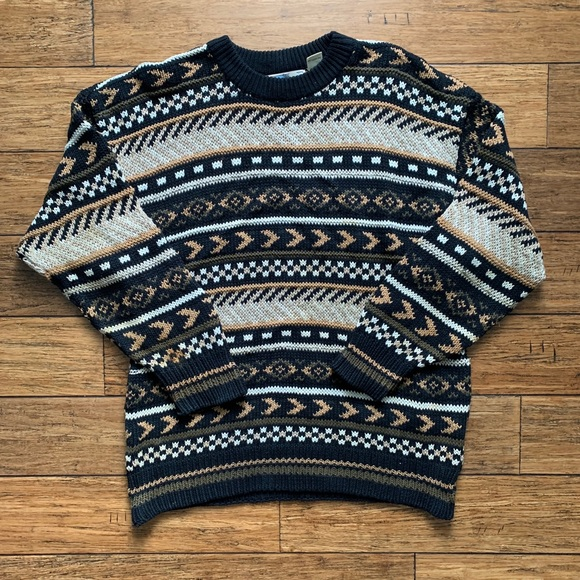 Aeropostale Other - Black White and Tan Vintage Chunky Knit Sweater